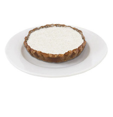 young coconut cream pie